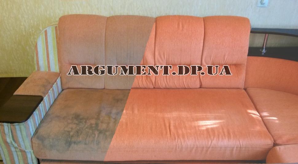 Угловой диван: до и после чистки